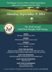 32nd Annual Chief Jack Murphy Golf Outing @ White Beeches Golf & Country Club | Haworth | New Jersey | United States