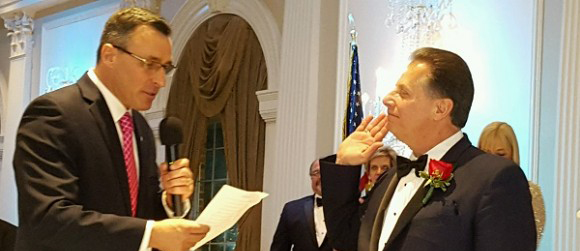Westwood Mayor John Birkner, Jr. Swearing in New BCPCA President Frank Regino (1/30/2016)